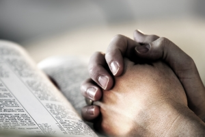 Praying Hands bible